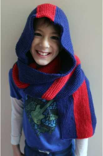 hooded scarf cascade