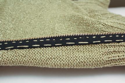 sewing zipper to knitting