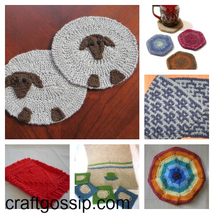 Knitted Coasters Free Patterns : Knit Some Coasters for Mom (or a Hostess Gift)   Knitting