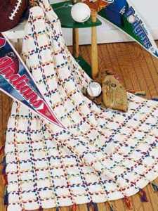 Knit stadium blanket - Free Patterns