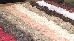 noro yarn in the making