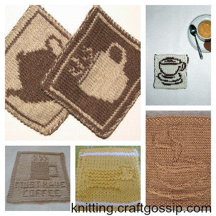 check out these coffee-related knitting patterns