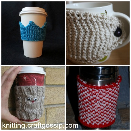 coffee cozy knitting patterns