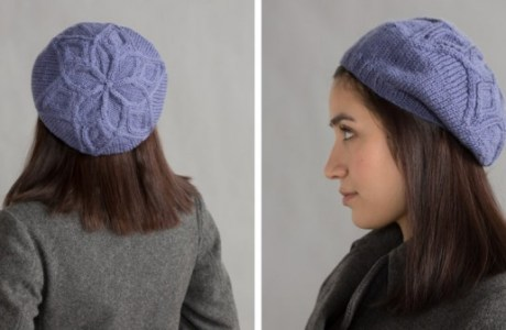 This easy hat is a great way to learn cable techniques
