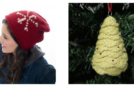 check out a couple of cute christmas knitting projectsq
