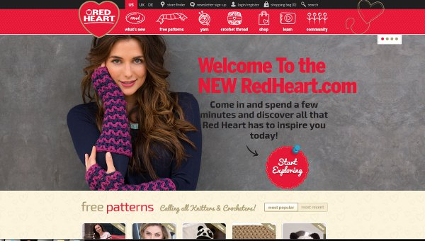 red heart revamps website