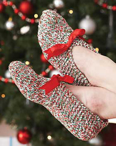 Knit slippers for gifts or for yourself.