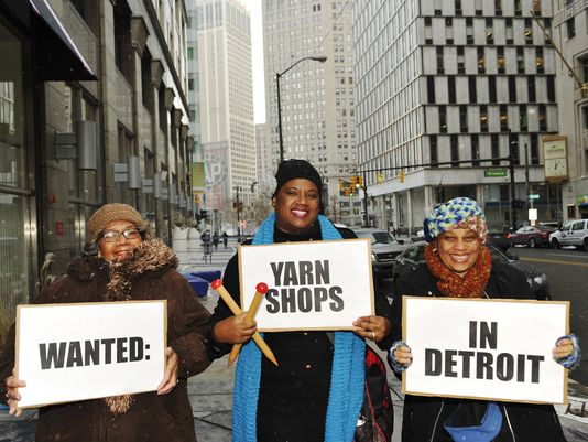 Detroit yarn crafters yearn for a yarn store.