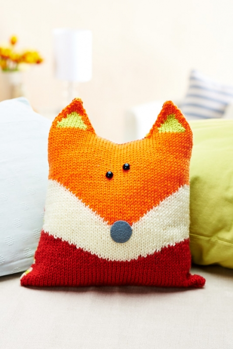 Boot Leg Warmers Knitting Pattern : Knit a Sweet Pillow Shaped Like a Fox   Knitting