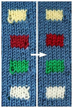 How To Knit Patterns With Different Colors : A Great Technique for Neater Color Changes   Knitting