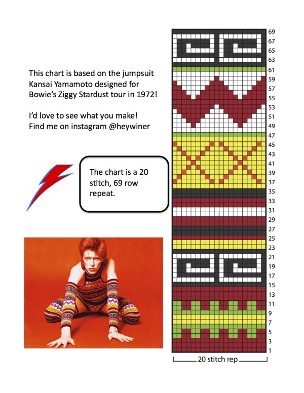 bowie knitting chart