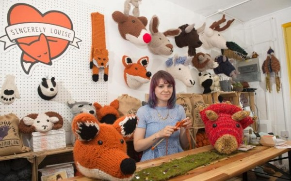 knit taxidermy more than a full-time job for one knitter