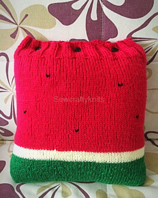 watermelon pillow cover knitting pattern