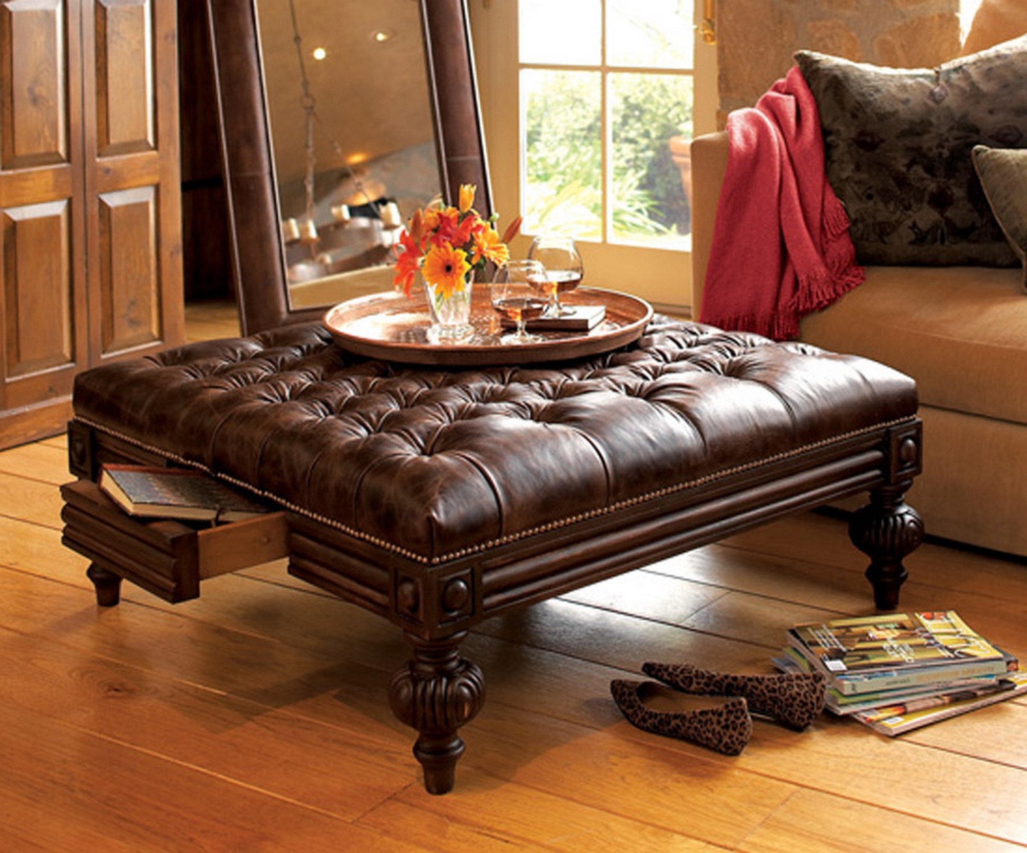 Fullsize Of Round Ottoman Coffee Table