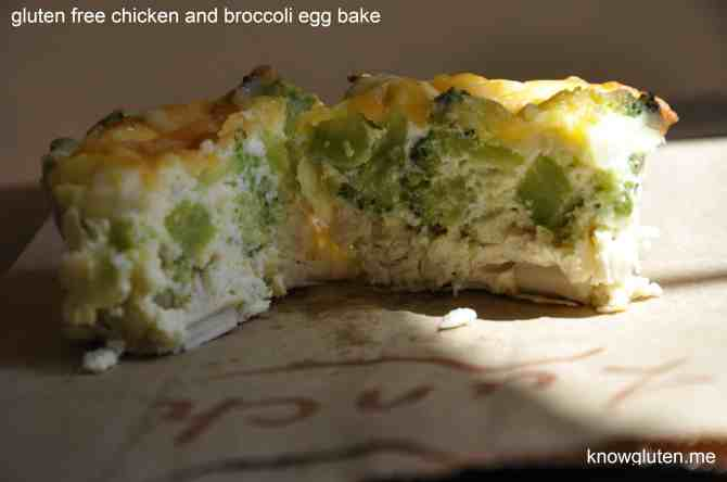 gluten free chicken and broccoli egg bake from know gluten.me