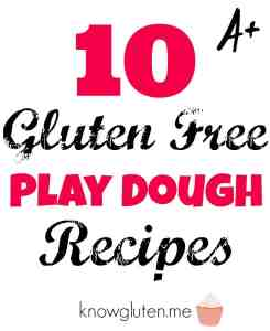 10 Gluten Free Playdough Recipes from knowgluten.me