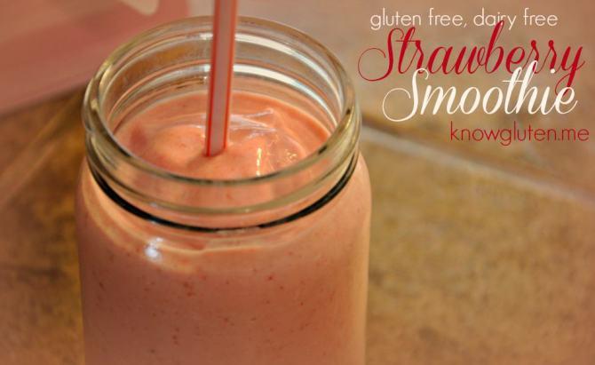 Gluten Free, Dairy Free, Refined Sugar Free, Strawberry Smoothie from Knowgluten.me (976x600)