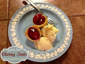 Gluten Free Tiny Cherry Tarts made with Pillsbury Pie and Pastry Dough from knowgluten.me