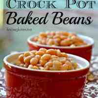 Gluten Free Baked Beans in a Crock Pot