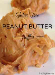 Gluten free peanut butter truffles from knowgluten.me no bake, super easy