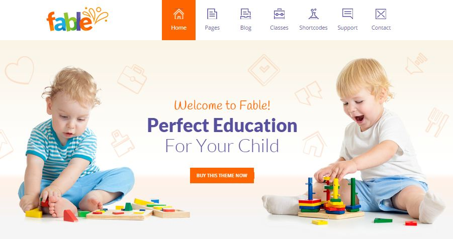 Fable WordPress Education Themes