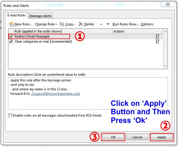 How To Redirect Outlook Emails To Another Email Address step 9