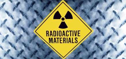 Close-up of a radioactive sign