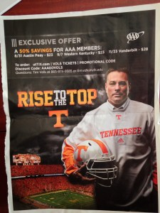 Tennessee football tickets, Butch Jones, AAA
