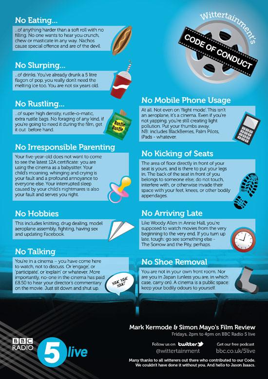 The Wittertainment Cinemagoers Code of Conduct kobestarr.com