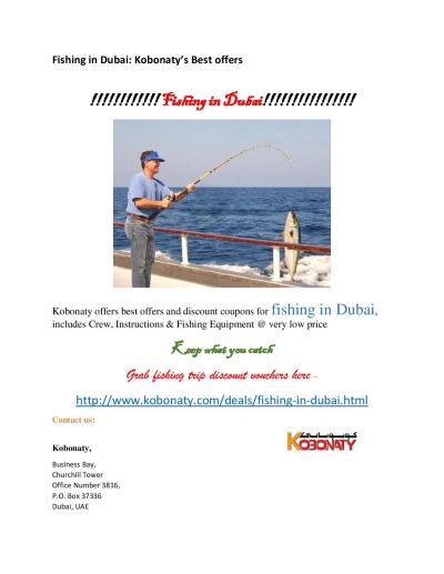 Fishing in Dubai : Discount Coupons | Dubai deals and discounts - Kobonaty