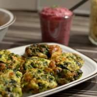 Frittata mit Spinat und Erbsen