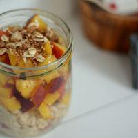 Nektarinen-Porridge