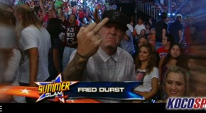 "Limp Bizkit frontman, Fred Durst, denies being ejected from WWE SummerSlam for ""Non-PG"" behavior"