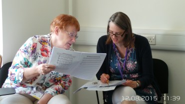 Wednesday - Sally and Helen in David Vinden's Musicianship Class