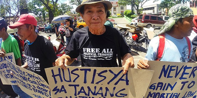 SELDA members call for justice for victims of Martial Law. (Photo by SELDA)