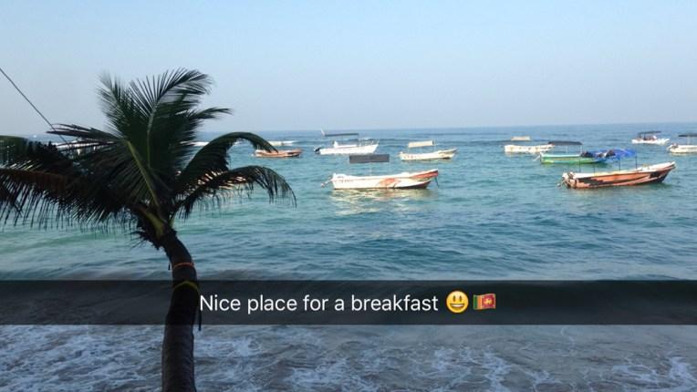 Ontbijt voor het duiken