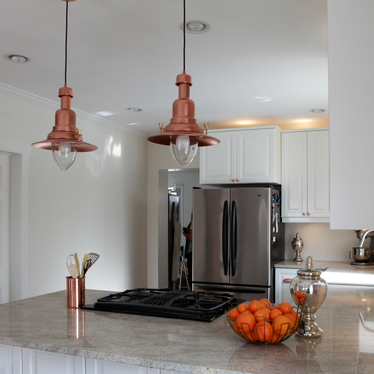 copper barn light ikea hack copper pendant light kitchen IKEA hack how to turn an OTTAVA light into a copper barn pendant light