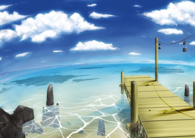 beach clouds landscape nobody original scenic sky tagme (artist) water   konachan.com - Konachan ...