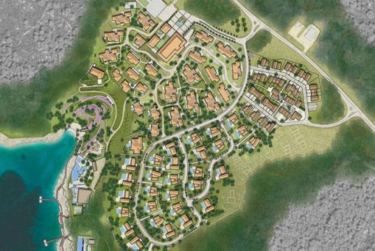 Planned Four Seasons Resort in Brizenica Bay