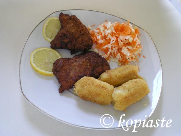 Potato Croquettes with schnitzel