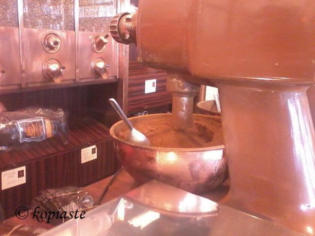 Grinding Greek coffee