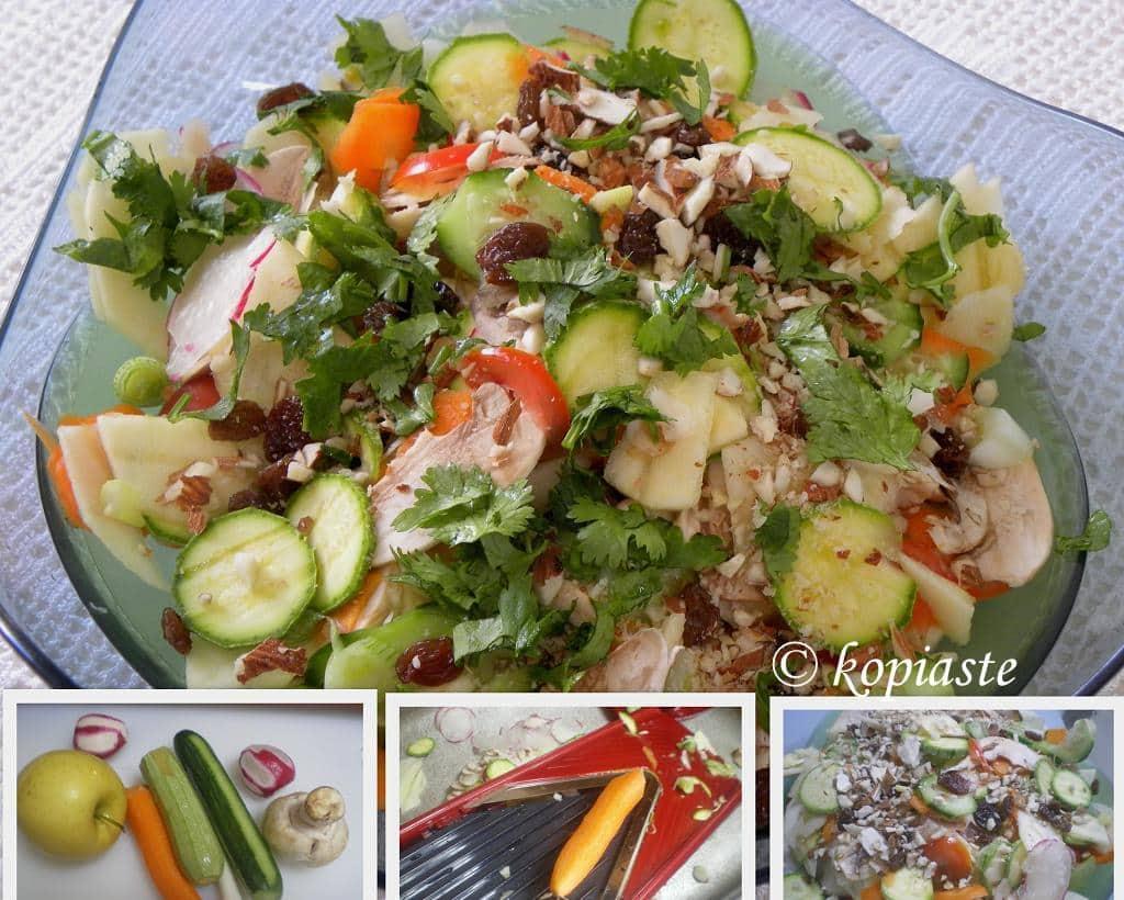 Collage Raw Vegetable salad