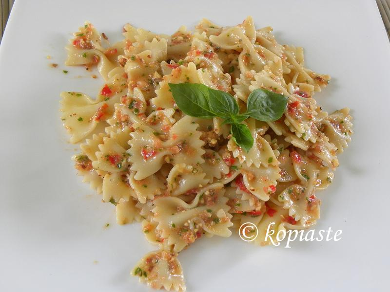 Farfalle with Pesto alla Trapanese