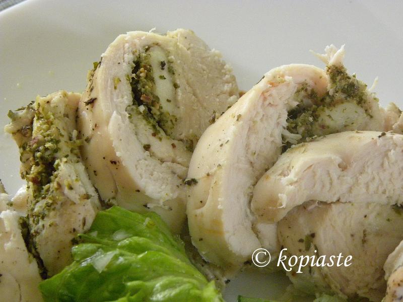 Staffed Chicken breasts closeup