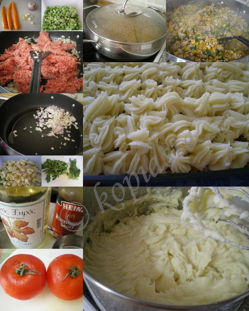 Collage Shepherd's Pie with ground turkey