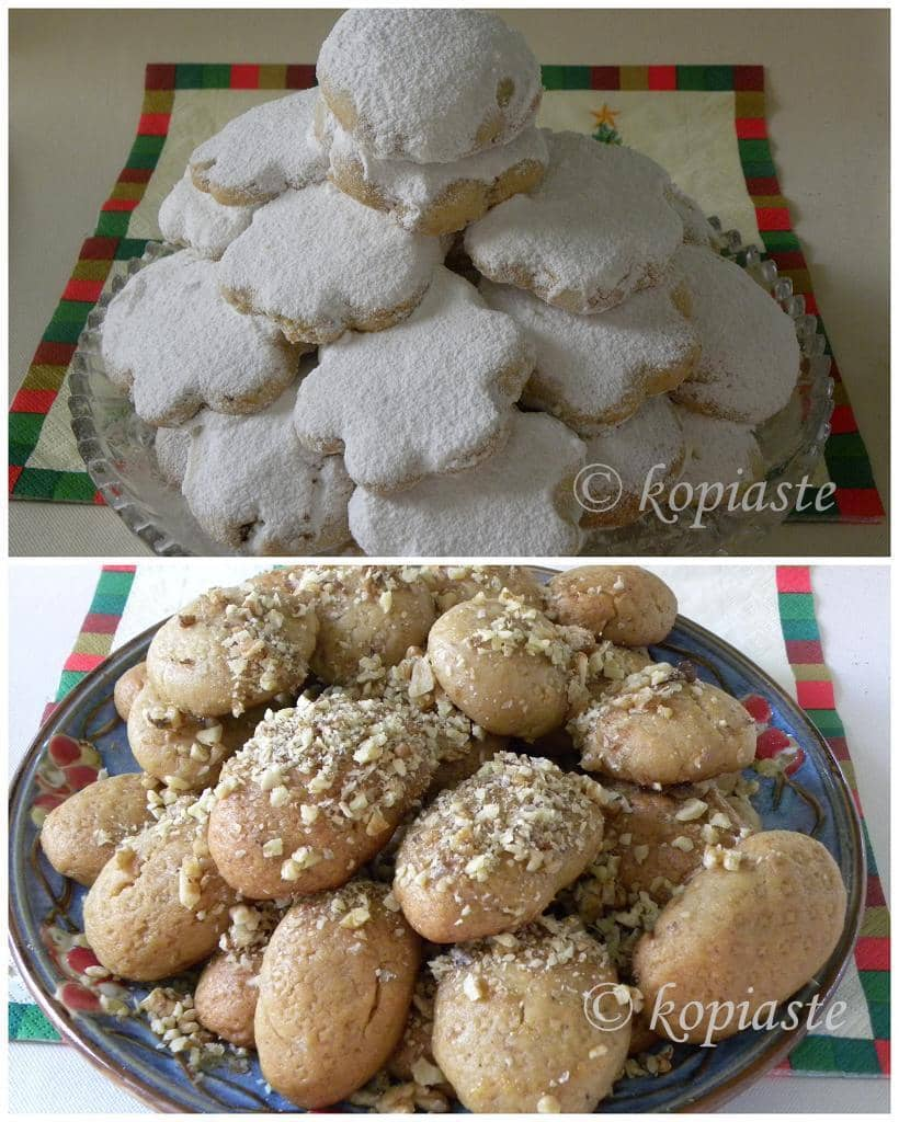 Collage kourabiedes and melomakarona Xmas 2010