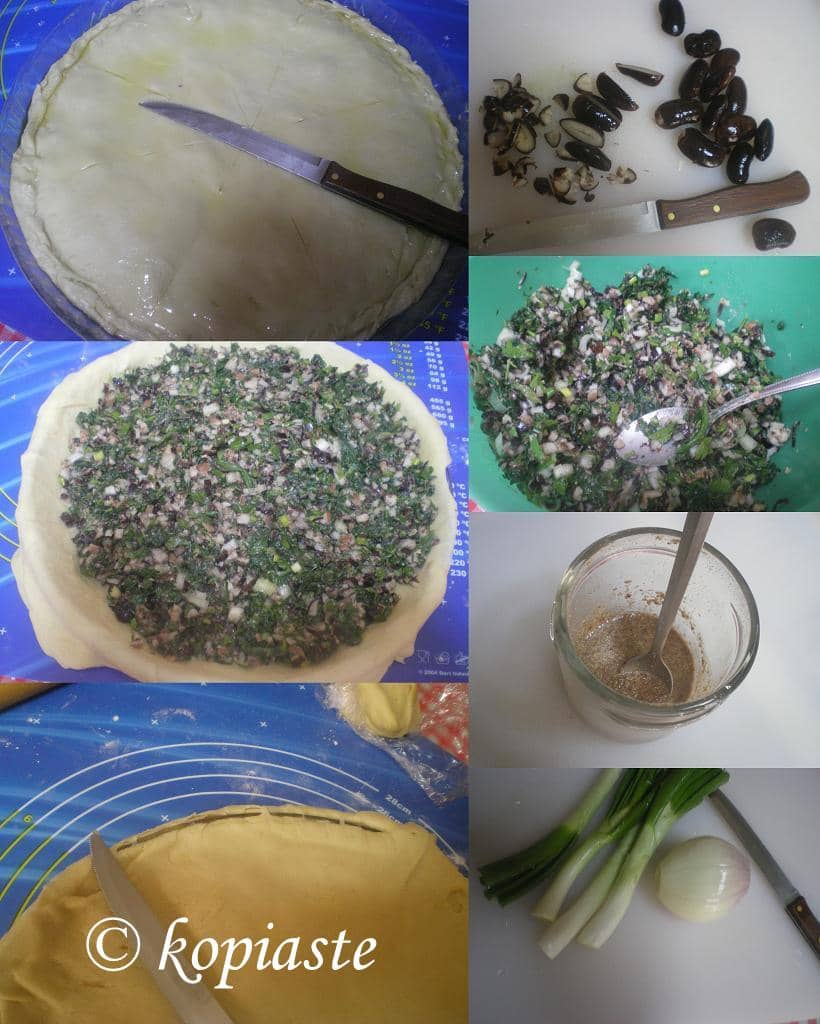 Collage Black beans Spanakopita with black beans