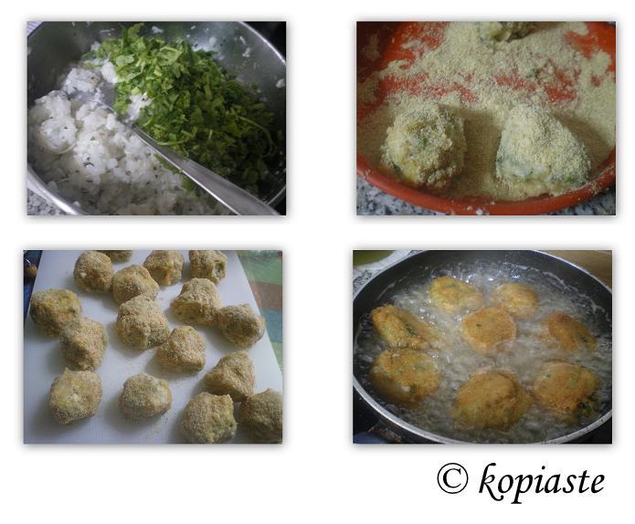 Collage Ryzokeftedes rice balls