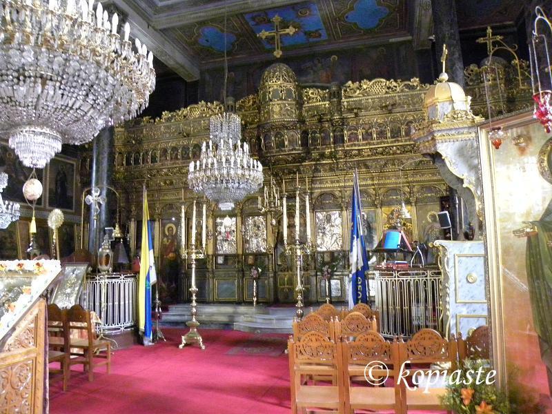 Inside Panagitsa (Genesion tis Theotokou) Nafplion