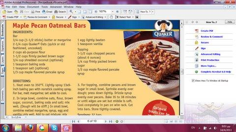 Maple Oatmeal bars